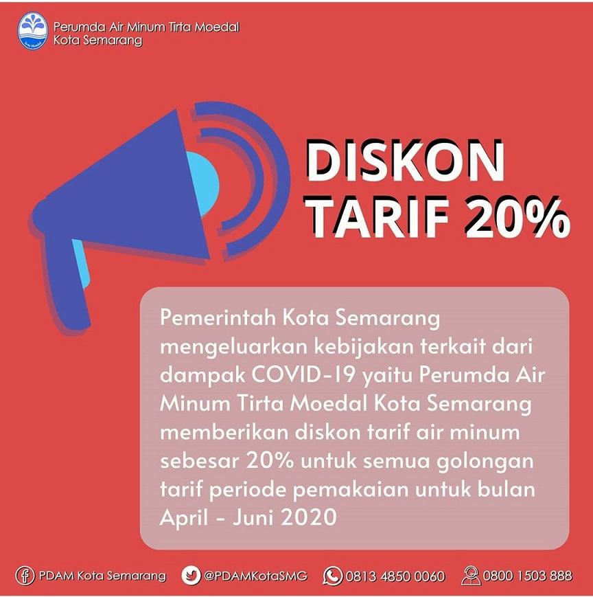 Pemkot Semarang Beri Diskon 20% untuk Pelanggan PDAM